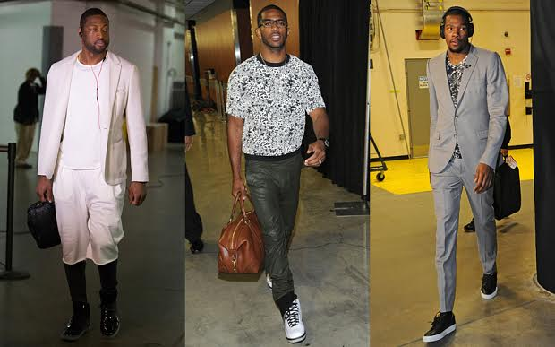 Dwyane Wade of the Miami Heat, Chris Paul of the Los Angeles Clippers an...