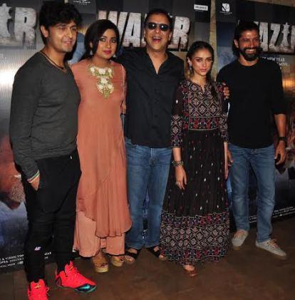 Farhan Akhtar and Aditi Rao Hydari, Vidhu Chopra, Sonu & Shreya