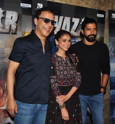 Farhan Akhtar and Aditi Rao Hydari & Vidhu Chopra