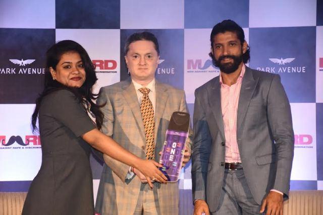 (L-R) Nishtha Satyam- Partnership Lead UN Women Mr. Gautam Hari Singhania- Chairman & Managing Director Raymond Ltd. and Farhan Akhtar- Actor & Director.