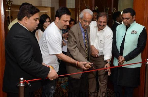 Mr Sk Urval cuts the ribbon at the inau ... aant Urval And Ashshley Rebello