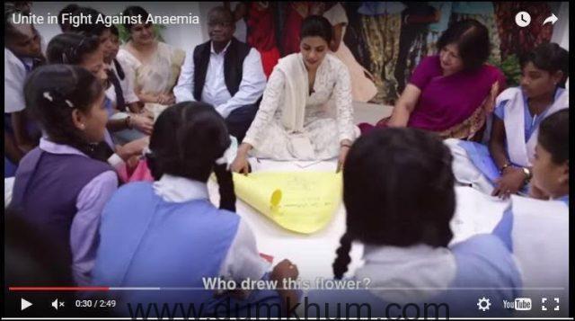 Health Minister and UNICEF Ambassador Priyanka Chopra launch WIFS awareness Campaign