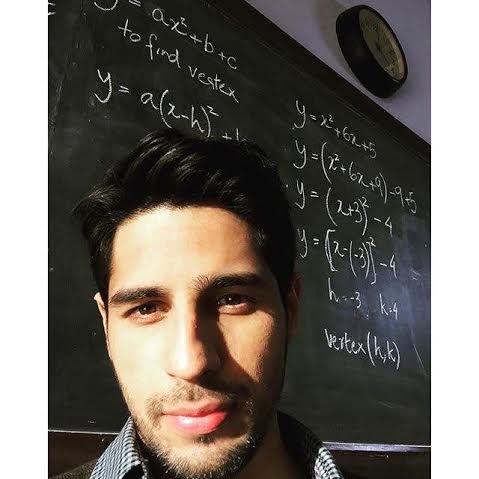 Sidharth plays a Math professor!