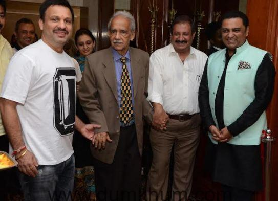 Vikrant Urval with S K Urval , Cyrus Gonda and Ashley Rebello