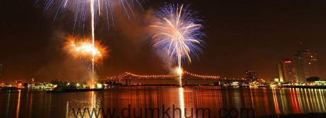 fireworks on the river by cheryl gerber