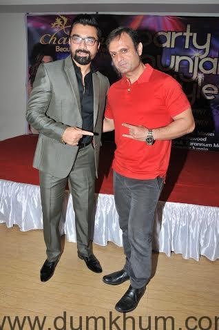 Ajaz Khan with DJ Sheizwood Ashish