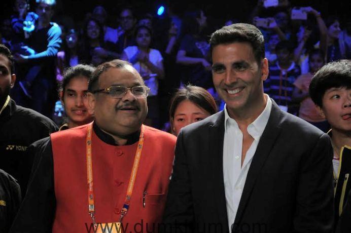 Akshay Kumar the Brand Ambassador of Premier Badminton league and the co-owner of Mumbai Rockets-1