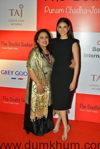 Author Punam Chadha Joseph with Aditi Rao Hydari