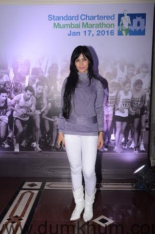 Bollywood Celebrity Anupama Verma at ... d Chartered Mumbai Marathon Event