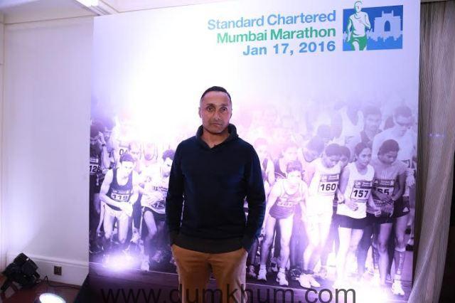 Bollywood actor Rahul Bose at the Standard Chartered Mumbai Marathon event