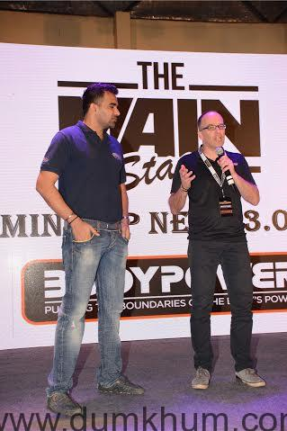Cricketer Zaheer Khan and Nick Orton, C ... ness at the Body Power Expo '16