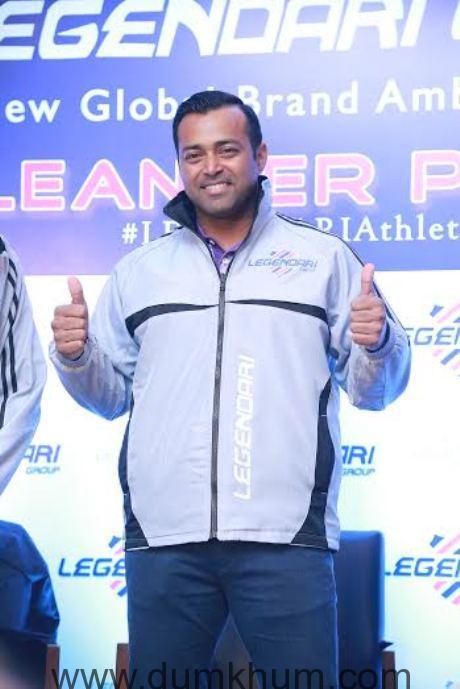 Leander Paes is Global Brand Ambassador of Legendari Group-
