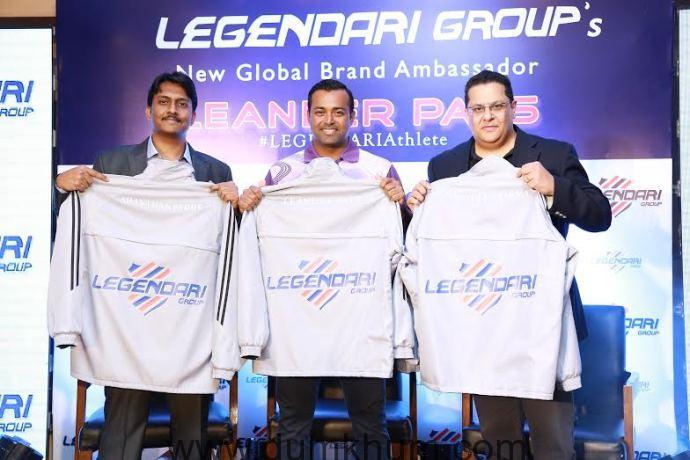 Leander Paes is Global Brand Ambassador of Legendari Group