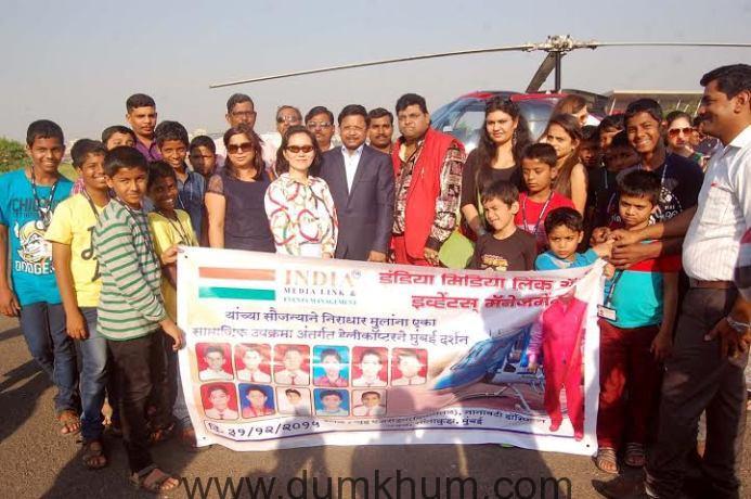 Lavish New year celebration with destitute childrens