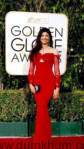 Pooja Batra stuns at the red carpet of the 73rd Golden Globe Awards-
