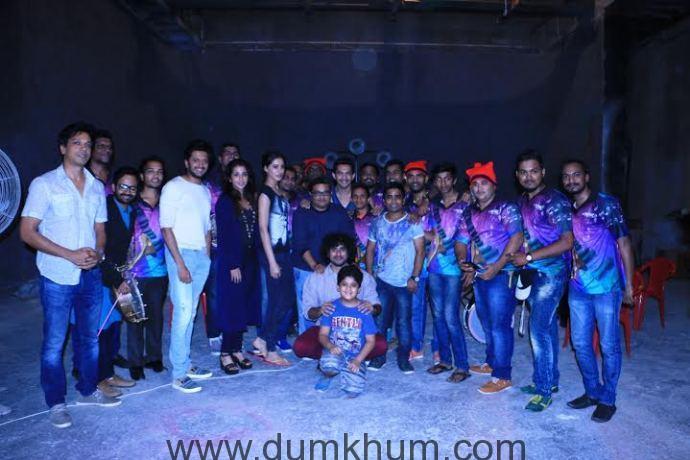 Producer Krishika Lulla with director Ravi Jadhav and actors Riteish Des....