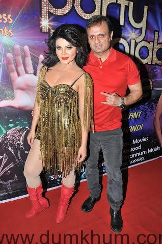 Rakhi Sawant with DJ Sheizwood Ashish