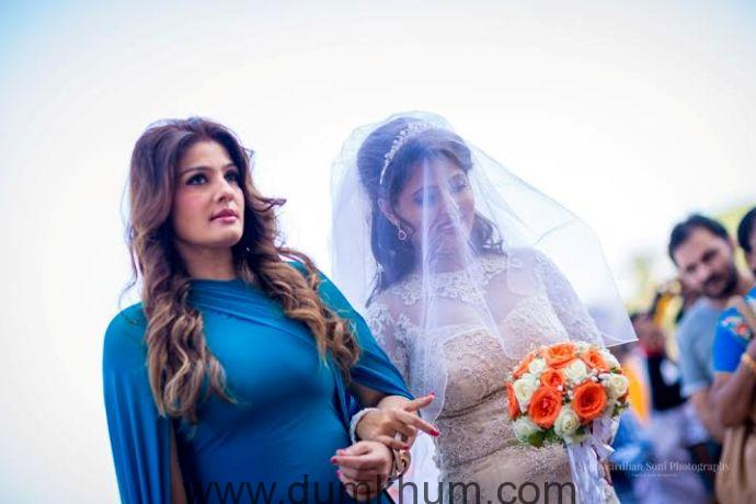 Raveena Tandon celebrates  adopted younger daughter, Chaya's marriage