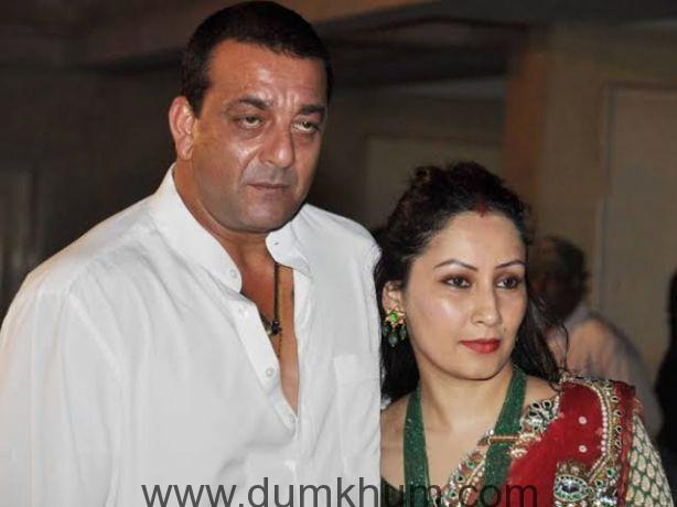 Sanjay Dutt with Manyata grace Mata Ki Chowki in Bandra