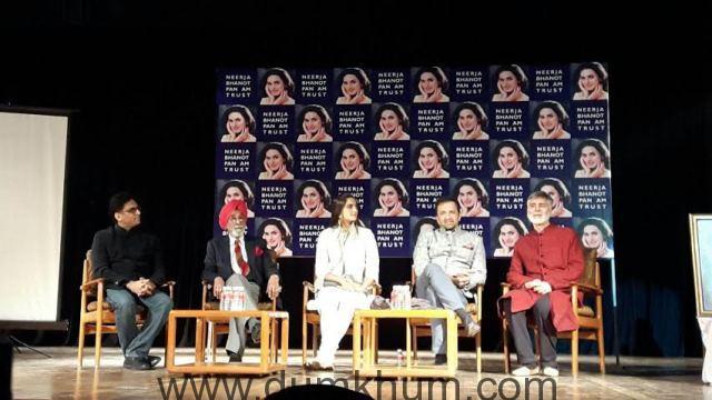 Team Neerja presents Neerja Bhanot bravery award in Chandigarh.