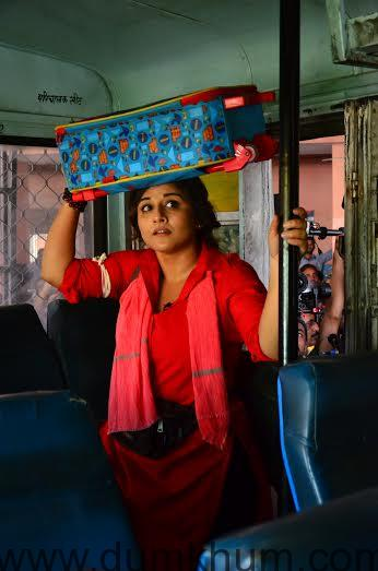 Vidya Balan shoots for Mission Sapne in Jaipur