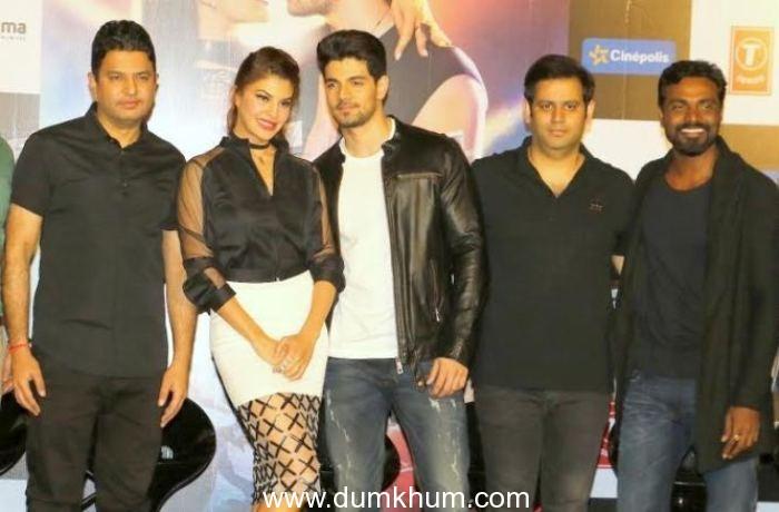 3. Bhushan Kumar, Jacquline Fernandes Sooraj Pancholi with Ajay Kapoor and Remo D'Souza