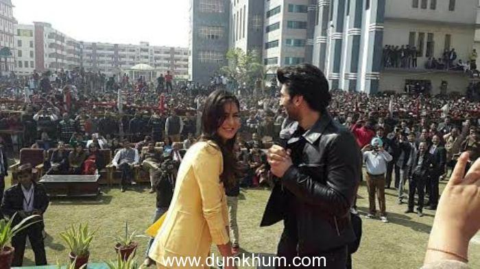 Aditya-Katrina visit  IIMT college in Delhi.
