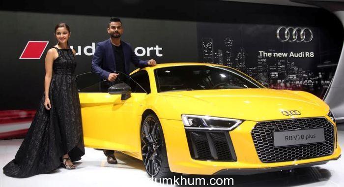 Audi R8 V10 Plus sets pulses racing of Virat Kohli and Alia Bhatt