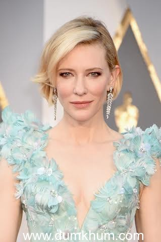 HOLLYWOOD, CA - FEBRUARY 28: Actress Cate Blanchett attends the 88th Annual Academy Awards at Hollywood & Highland Center on February 28, 2016 in Hollywood, California. (Photo by Jeff Kravitz/FilmMagic)