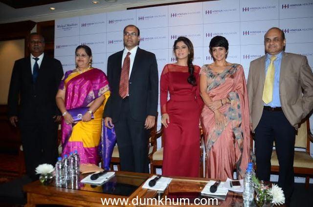 Dr H. Tongaonkar, Dr Vishal Beri,CEO Hinduja Healthcare Surgical,Khar, Actor Kajol, Dr. Kiran Coelho & Mandira Bedi were present at Women Wellness -Through The Ages Forum organized by Hinduja Healthcare.