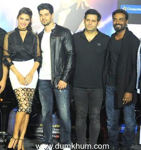 Jacquline Fernandes Sooraj Pancholi with Ajay Kapoor & Remo-