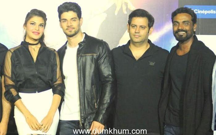 Jacquline Fernandes Sooraj Pancholi with Ajay Kapoor & Remo