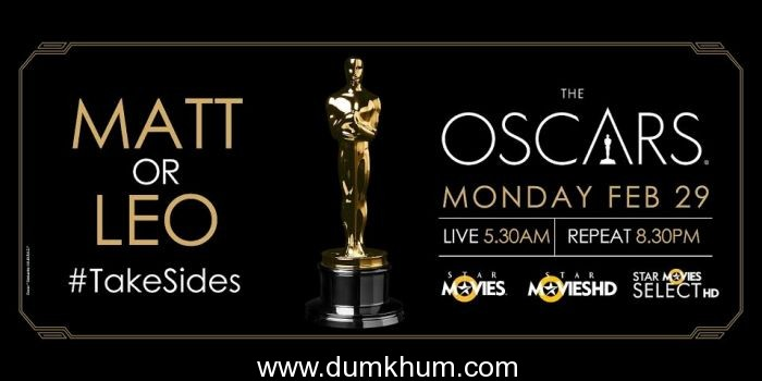Star Movies, Star Movies Select HD and Hotstar to exclusively host The 88th Academy Awards on 29th February Live at 5:30 AM and Repeat at 8: 30 PM
