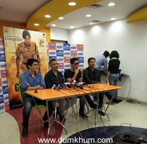 Prakash Jha, Manav Kaul, Salim- Sulaiman at the Maya Thagni launch (5