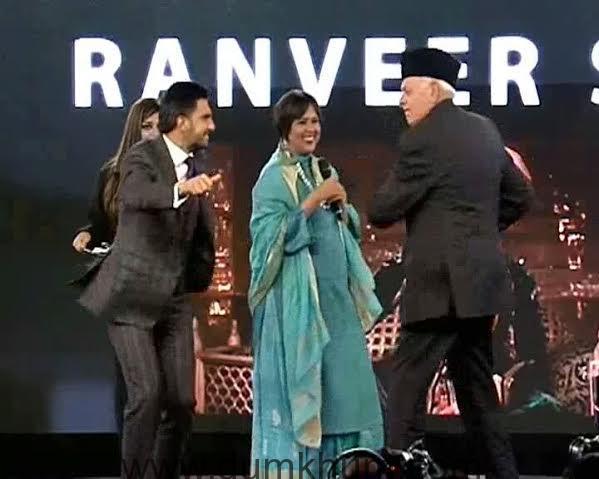Ranveer Singh With Mr. Farooq Abdullah and Barkha Dutt