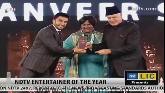Ranveer Singh is NDTV Entertainer of the Year 1