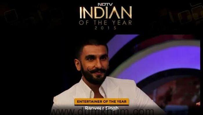 RANVEER SINGH IS NDTV'S 'ENTERTAINER OF THE YEAR' 2016