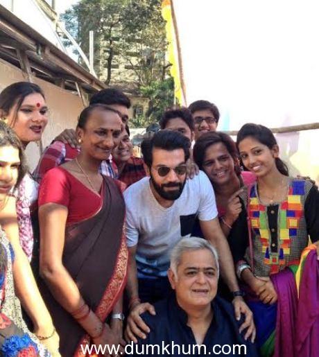 The cast of Hansal Mehta's Aligarh at the gay parade (