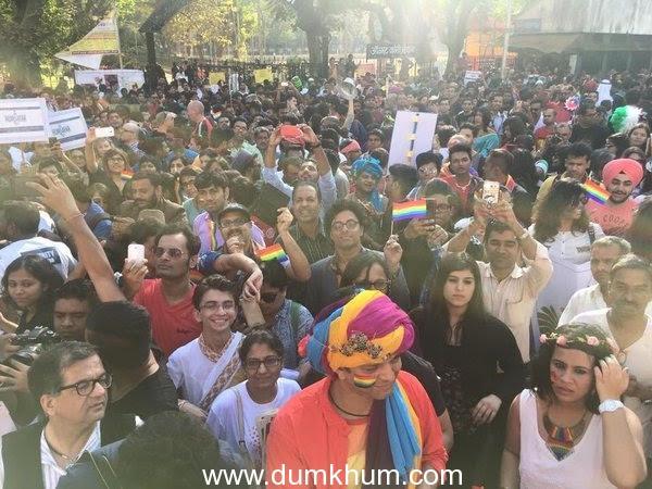 The cast of Hansal Mehta's Aligarh at the gay parade (6).