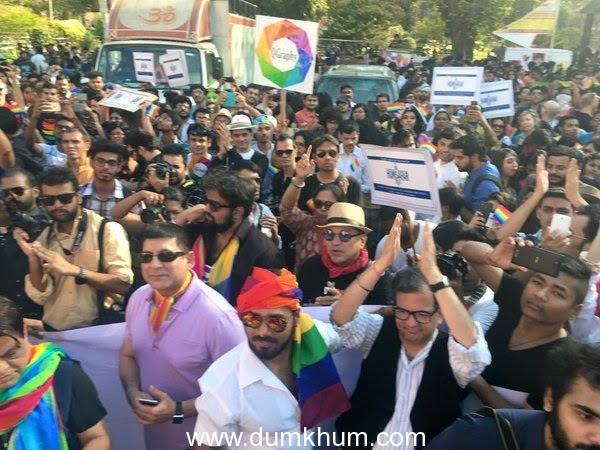 The cast of Hansal Mehta's Aligarh at the gay parade (6)