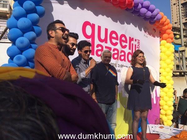 The cast of Hansal Mehta's Aligarh at the gay parade (6