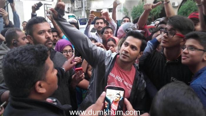 Varun Dhawan gets mobbed in Abu Dabi