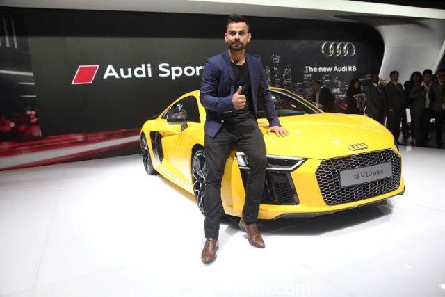 Virat Kohli with the Audi R8 V10 Plus