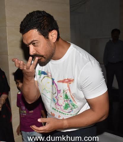 Aamir Khan 51st birthday celebration....