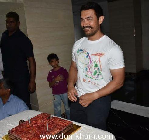 Aamir Khan 51st birthday celebration.