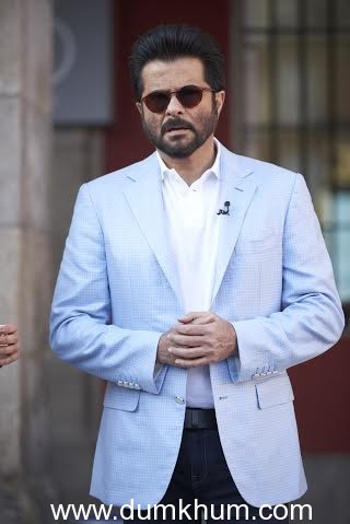 Actor Anil Kapoor poses in Stefano Ricci at the Iifa Press Conference-