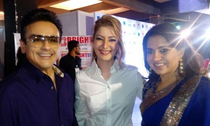 Adnan Sami withwife and Shaina N C