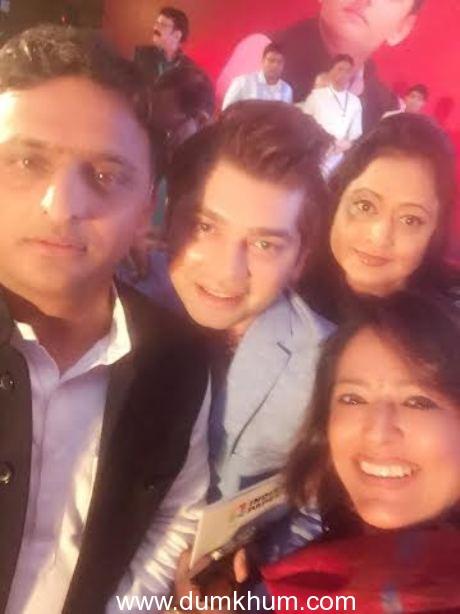Akhilesh Yadav, Vivek Mishra Of Big Bo ... a at the Launch Of indiaspaper.com