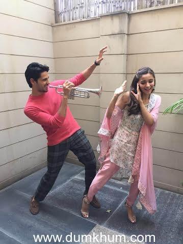 Alia bhatt and Sidharth Malhotra in Jaipur-