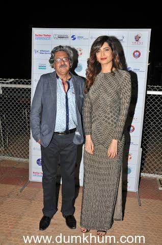 Capt. Sunil Nangia with Karishma Tanna